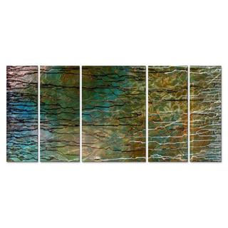 Marina Rehrmann 'Rain Forrest' Contemporary Metal Wall Art