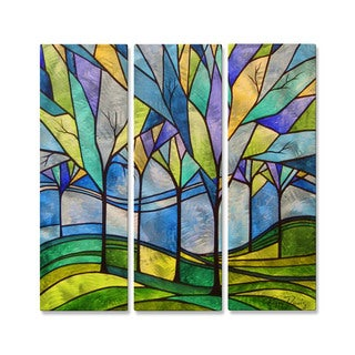 Peggy Davis 'Stain Glass Trees' Metal Wall Decor