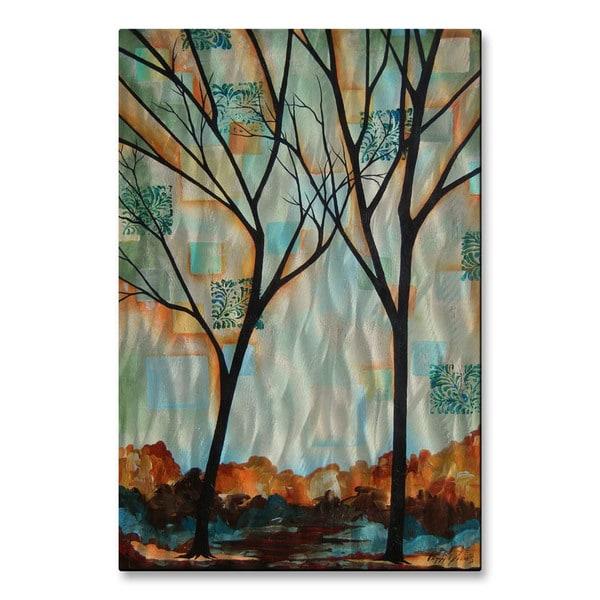 Peggy Davis 'Tall Tall Trees' Metal Wall Art