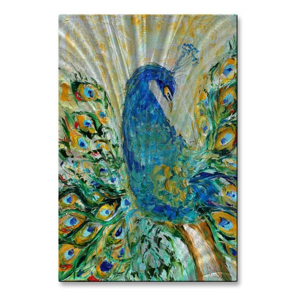 Karen Tarlton 'Peacock' Metal Wall Art