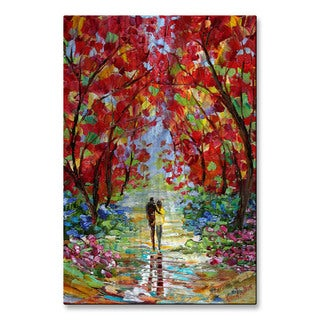 Karen Tarlton 'Fall Romance' Metal Wall Art