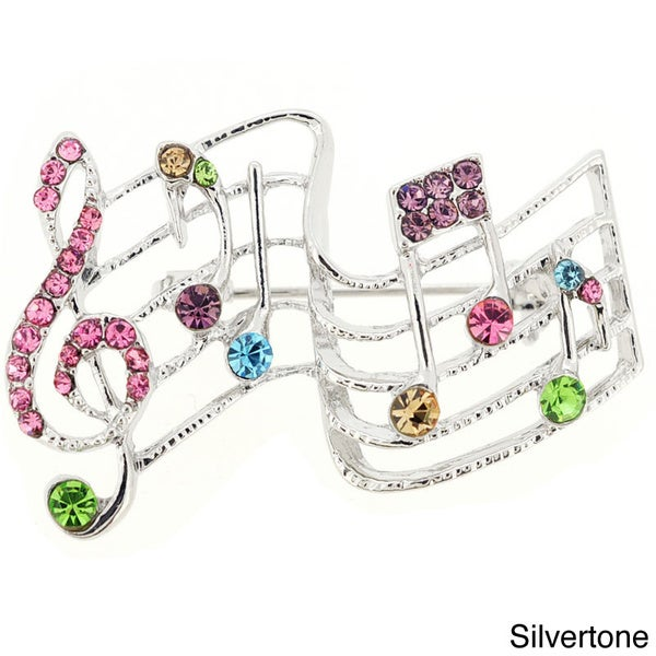 Multicolor Music Note Pin Music Pin Brooch
