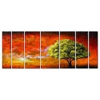 Matthew Hamblen 'Marmalade' Metal Wall Art 7-panel Set