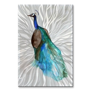 Christine Lindstrom 'Peacock' Metal Wall Sculpture