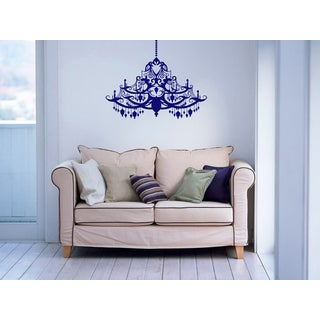 Glossy Blue Chandelier Vinyl Wall Decal