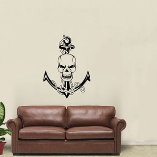 Scull Nautical Anchor Vinyl Wall Decal