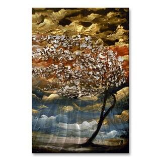 Matthew Hamblen 'Windswept in White' Metal Wall Hanging
