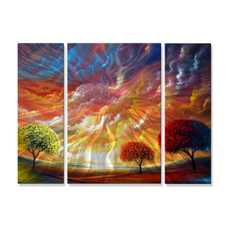 Matthew Hamblen 'Magic Sunset' Metal Wall Art 3-panel Set
