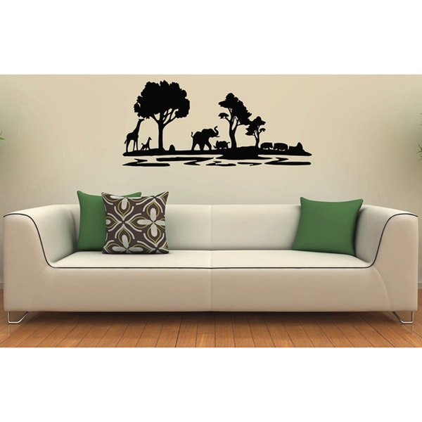 African Safari Animals Vinyl Wall Decal Free Shipping On Orders - Wall decals animals