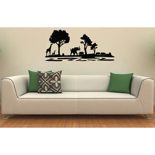 African Safari Animals Vinyl Wall Decal