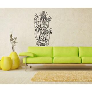 Standing Buddha Vinyl Wall Decal