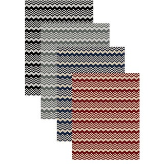Admire Home Living Ashley Chevron Print Area Rug (3'3 x 4'11)