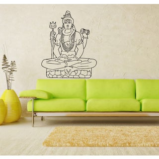 Sitting Buddha Vinyl Wall Decal