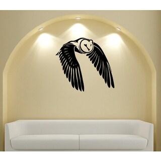 Flying Owl Vinyl Wall Decal