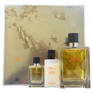 Hermes Terre d'Hermes Men's 3-piece Fragrance Gift Set