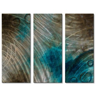 Brittney Hallowell 'Summer Solstice' Metal Wall Art 3-panel Set