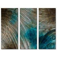 Brittney Hallowell 'Summer Solstice' Metal Wall Art 3-panel Set