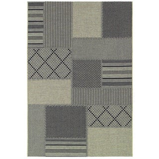 "Tides Rockville Black and Grey Rug (3'11"" x 5'7"")"