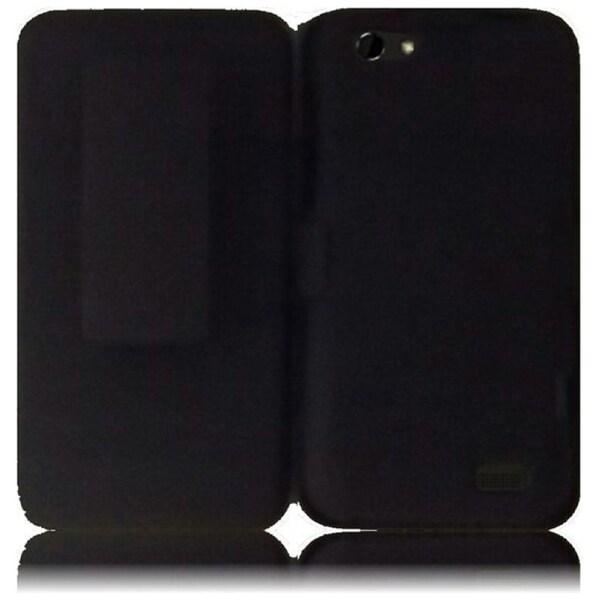 INSTEN Black Holster Phone Case Cover for HTC One V