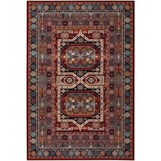 Couristan Timeless Treasures Maharaja/Burgundy Wool Area Rug - 5'3 x 7'6