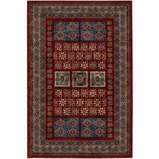 Royal Kazak/ Burgundy Persian New Zealand Wool Rug (6'6 x 9'10)