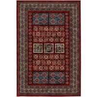 "Royal Kazak/ Burgundy Persian New Zealand Wool Rug (6'6 x 9'10) - 6'6"" x 9'10"""