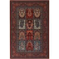 Couristan Timeless Treasures Vintage Baktiari/Burgundy Wool Area Rug - 4'6 x 6'6