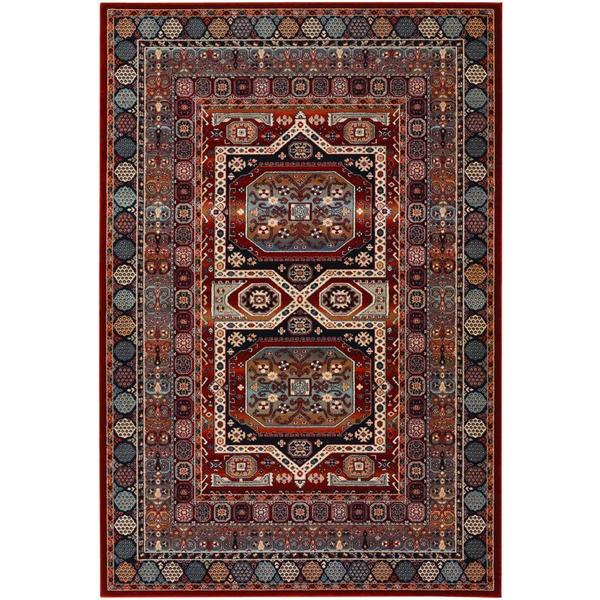 Timeless Treasures Maharaja Burgundy Area Rug 7 X27 10 X