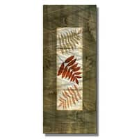 Tina Chaden 'Leaf Tile Panel 2' Contemporary Metal Wall Art