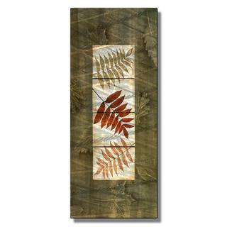 Tina Chaden 'Leaf Tile Panel 2' Contemporary Metal Wall Art