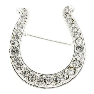 Silver Horseshoe Fashion Pin Brooch