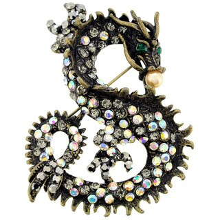 Vintage Style Chinese Dragon Pin Animal Pin Brooch and Pendant