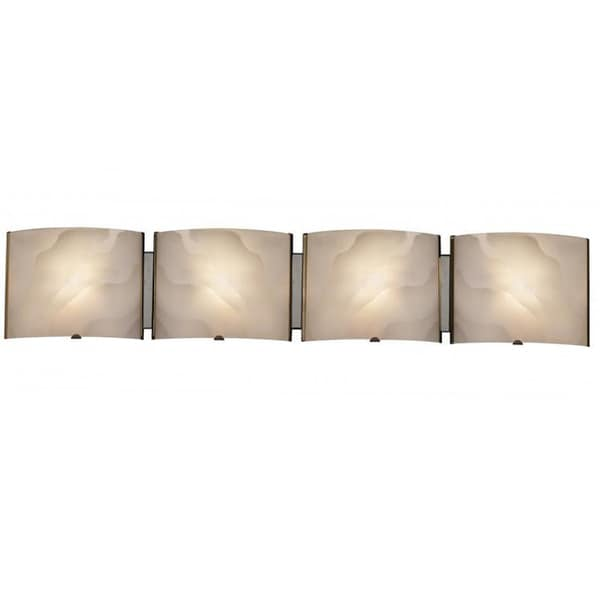 Contemporary 4 light chrome bath vanity fixture free shipping today 15844975 - Contemporary bathroom light fixtures install ...