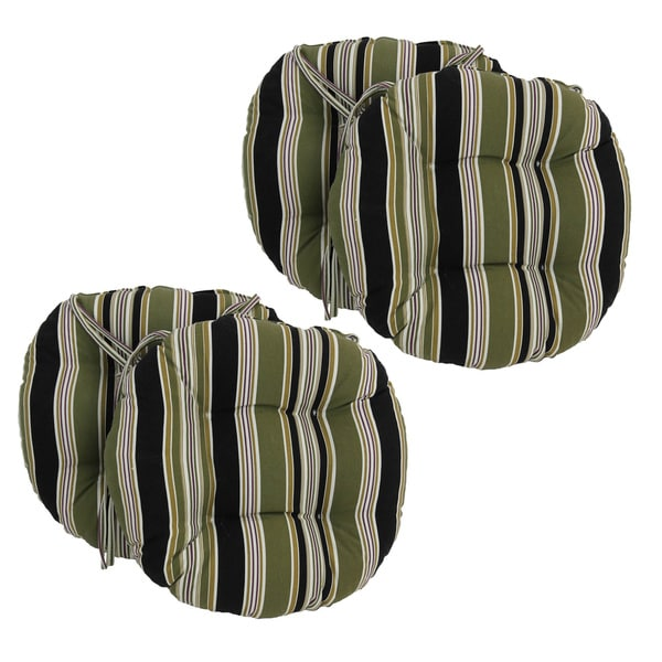 Charmant Blazing Needles 16 X 16 Inch Round Outdoor Chair Cushions (Set Of 4)