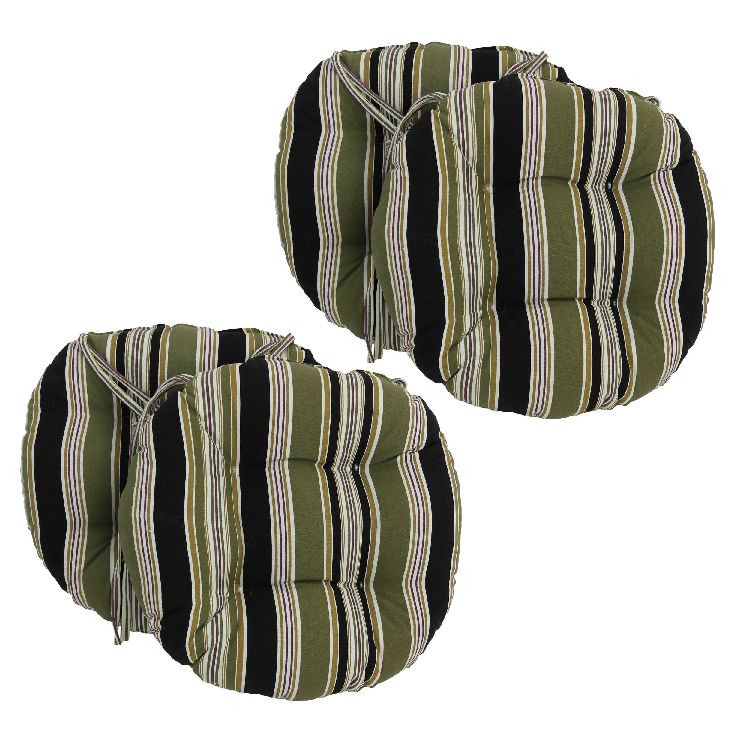 Blazing Needles 16 X 16 Inch Round Outdoor Chair Cushions set of