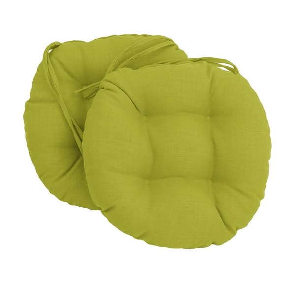 Shop Blazing Needles 16 Inch Round Indoor Outdoor Chair Cushions