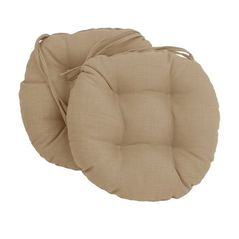 Blazing Needles 16-inch Round Indoor/Outdoor Chair Cushions (Set of 2)