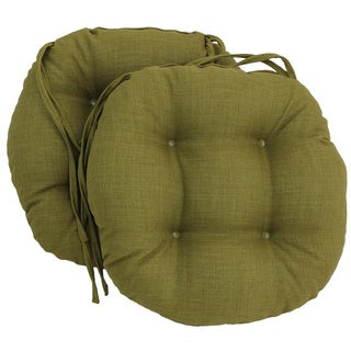 Merveilleux Blazing Needles 16x16 Inch Round Outdoor Chair Cushions (Set Of 2)