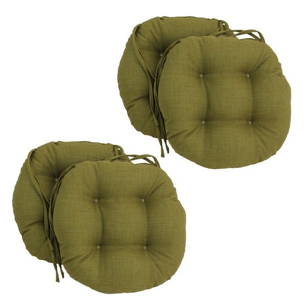 Shop Blazing Needles Solid 16 X 16 Inch Round Outdoor Chair Cushions