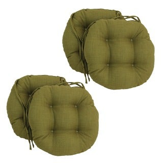 Blazing Needles Solid 16 X 16 Inch Round Outdoor Chair Cushions (Set Of 4