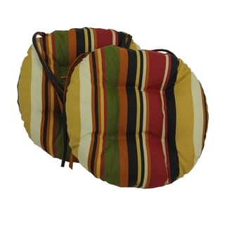 Blazing Needles 16x16 Inch Round Patterned Outdoor Chair Cushions (Set Of  2)   Part 32
