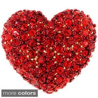 Ruby Heart Valentines Lapel Pin