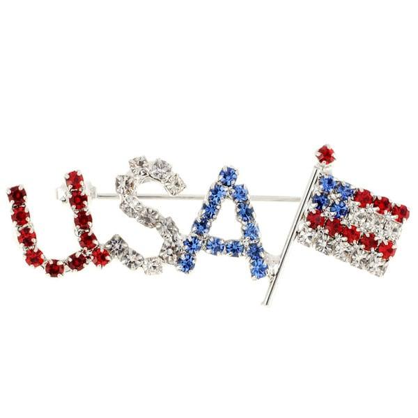 July 4th U.S.A Pin American Flag Pin Brooch