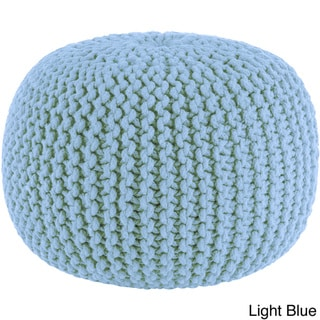 Celebration Hand Knitted Pure Cotton Braid Pouf