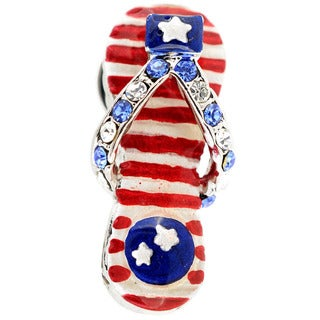 July 4th Flip-flop Lapel Pin
