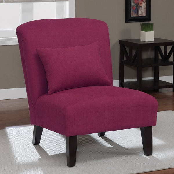 Anna Raspberry Accent Chair Free Shipping Today
