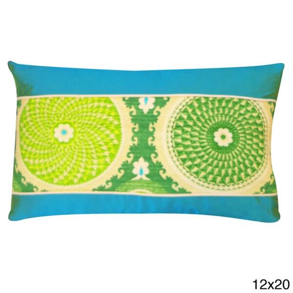 Handmade Green Coin Throw Pillow
