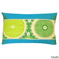 Green Coin Throw Pillow