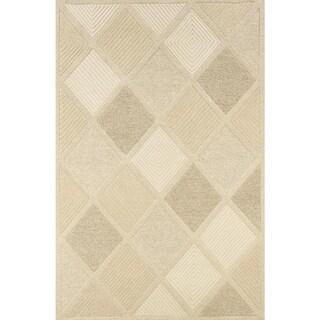 Couristan Super Indo-Natural Diamond Wool Area Rug - 5'6 x 8'