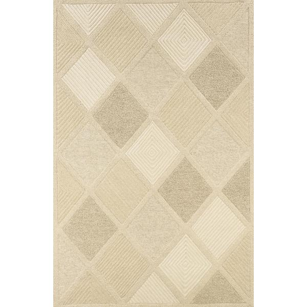 Couristan Super Indo- Natural Diamond Wool Area Rug - 8' x 11'